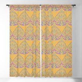 Art Deco Yellow Blackout Curtain