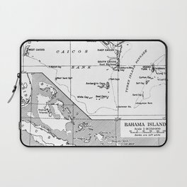 Vintage Map of Turks and Caicos & Bahamas Laptop Sleeve