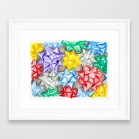 bows Framed Art Prints featuring Bows by Lady Tanya bleudragon