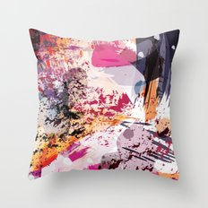 7: a vibrant abstract in jewel tones Throw Pillow