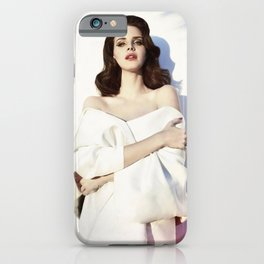 La-na del rey Music Silk Poster Frameless iPhone Case