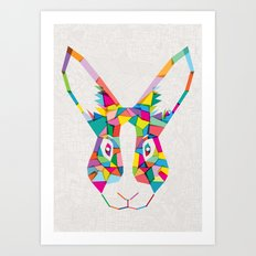 Rainbow Rabbit Art Print