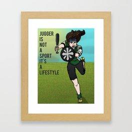 Jugger is not a Sport Framed Art Print
