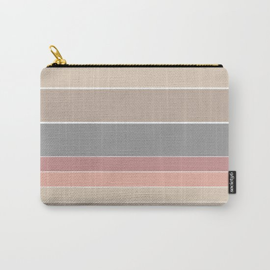 Simple striped pattern in pastel colours . Carry-All Pouch