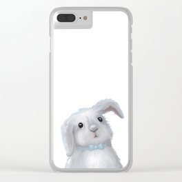 White Rabbit Boy isolated Clear iPhone Case