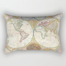 A General Map of the World - Laurie 1794 Rectangular Pillow