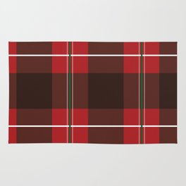 Red, Black and Green Striped Plaid Rug