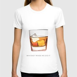 Alcohol Poster,Funny Poster Whiskey Art,Make Mine a Double,Alcohol Gift,Whiskey Cocktail,Inspiring T-shirt