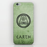 airbender iPhone & iPod Skins featuring Avatar Last Airbender Elements - Earth by bdubzgear