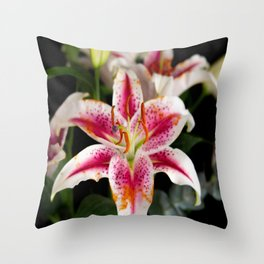 Strong Oriental Lily Throw Pillow