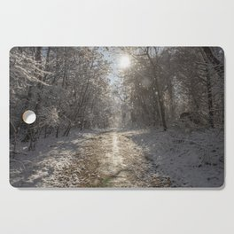After the Snow Cutting Board