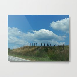 The Clouds Are Not Fenced In Metal Print
