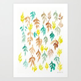 180726 Abstract Leaves Botanical 21|Botanical Illustrations Art Print