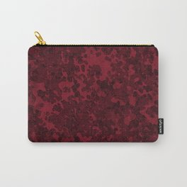Burgundy Red Hybrid Camo Design Pattern Carry-All Pouch