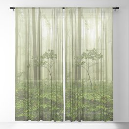 Dreaming of Appalachia - Nature Photography Digital Landscape Sheer Curtain