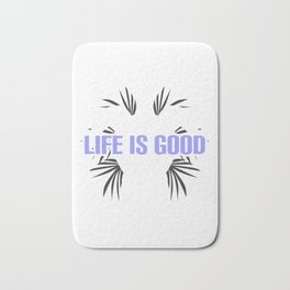 Funny Life Is Good Take It Slow Cute Turtle Bath Mat