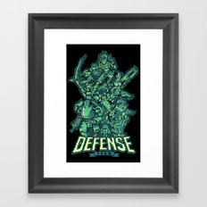 Defense Team Framed Art Print