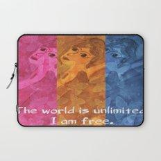 The world is umlimited. I am free... Laptop Sleeve