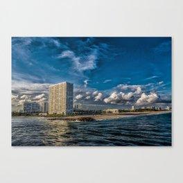 Modern Condos on Fort Lauderdale Beach Canvas Print