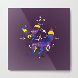Purple Space Monster from Planet Pocket Metal Print