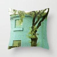 colombia Throw Pillows featuring COLOMBIA BOGOTA TYPICAL HOUSE by Alejandra Triana Muñoz (Alejandra Sweet