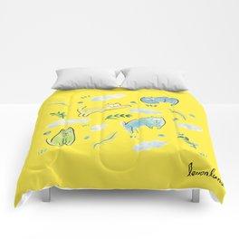 sunday mood Comforters