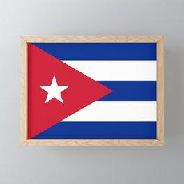 Flag of Cuba Framed Mini Art Print