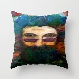 Jerry Garcia Watercolor Portrait Grateful Dead Throw Pillow