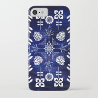 batik iPhone & iPod Cases featuring Flora Batik by GypsyBohemian