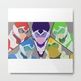 Paladins of Voltron - Voltron Legendary Defender Metal Print
