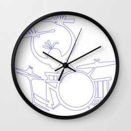 energic drummer Wall Clock