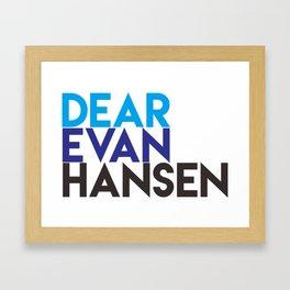 Dear Evan Hansen Framed Art Print