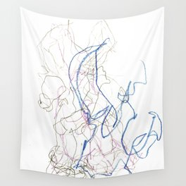 Nonsensical Scribbles Wall Tapestry