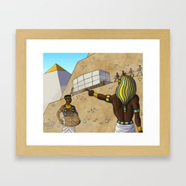 Building the Great Pyramid Framed Art Print