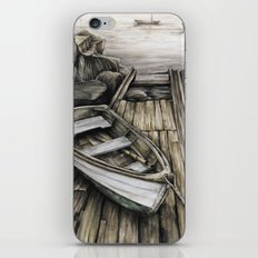 Old Boat on the Dock iPhone & iPod Skin