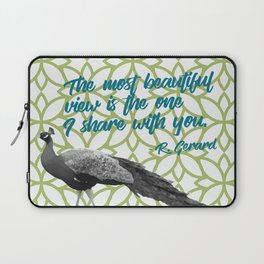 Peacock on Green Most Beautiful View Share with You Laptop Sleeve