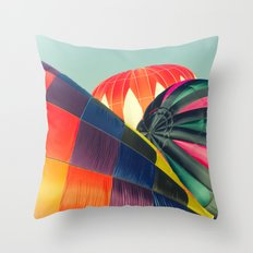 Balloon Love: up up and away! Throw Pillow