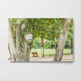 Bucket & Trees, Killing Fields, Cambodia Metal Print