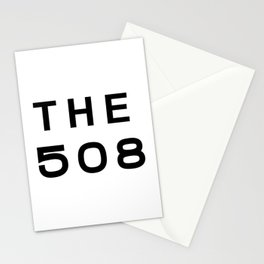 508 Massachusetts Area Code Typography Stationery Cards