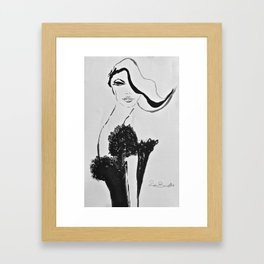 Girl in Paris Framed Art Print