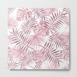 Pink Tropical Vines Metal Print