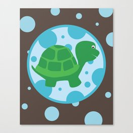 SERIES: Pond Critters - turtle Canvas Print