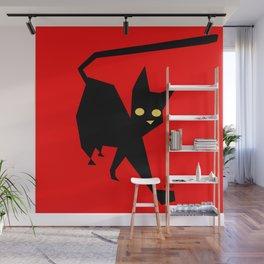 The Strut (Black Cat) Wall Mural