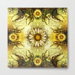 """Victorian Garden Spring Flowers"" Metal Print"