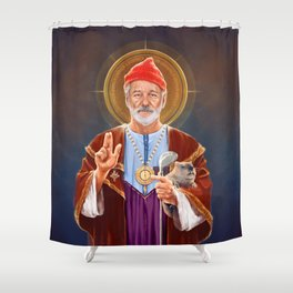 Saint Bill of Murray Shower Curtain