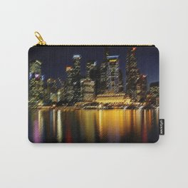 Singapore Landscape at Night by Jeanpaul Ferro Carry-All Pouch