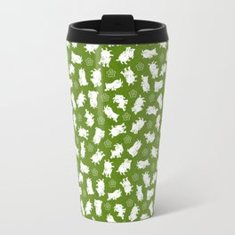 Ditsy Goat Green Travel Mug