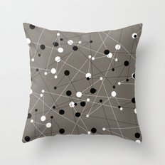 Molecular Pattern Throw Pillow