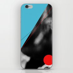 blue and red circle iPhone & iPod Skin