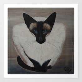 The Siamese Cat Art Print